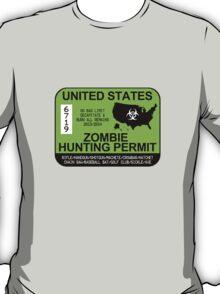 Zombie Hunting Permit 2013/2014 T-Shirt
