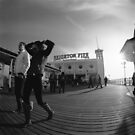Fisheye on the Pier by Steve Churchill