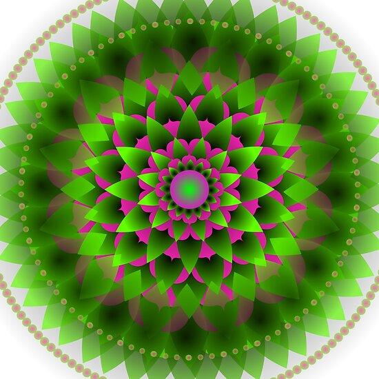 Healing Chakra Mandala Heart Health by Sarah Niebank