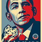 Obama Bake Sale (riff on Shepard Fairey) by Luke Massman-Johnson