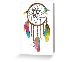 Dreamcatcher a Fashion Illustration Greeting Card