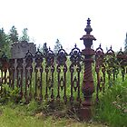 1850&#x27;s Wrought Iron Grave Plot Fence by Martha Medford