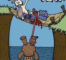 Teddy Bear And Bunny - Bungee Jump by Brett Gilbert