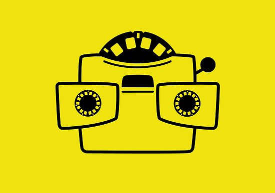Viewmaster Black Yellow Card & Prints by M  Bianchi