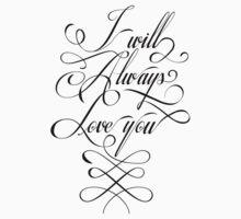 Tyography Tshirt - I Love You by VisualKontakt & Co.