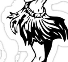 Hula Dancing Girl Sticker