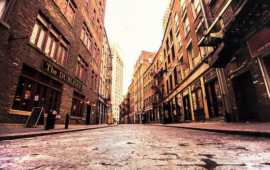 Stone Street - Lower Manhattan by Vivienne Gucwa