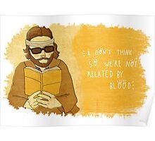 Richie Tenenbaum design 2, by Siri Vinter Poster