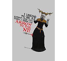 Arrow To The Ni!! Photographic Print