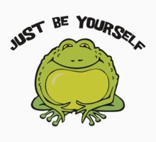 "Funny Frog ""Just Be Yourself"" by T-ShirtsGifts"