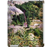 wildflowers over cliff edge Johnston's Ridge iPad Case/Skin