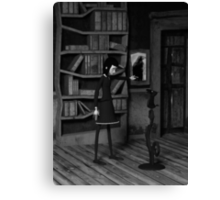 Lenore and The Raven Canvas Print