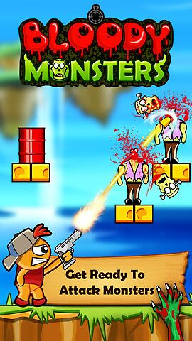 Bloody Monsters - Zombie Shooting Game for iPhone by johnmorris8755