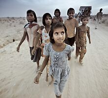 Children of the Thar Dessert, Rajasthan India by Heather Buckley