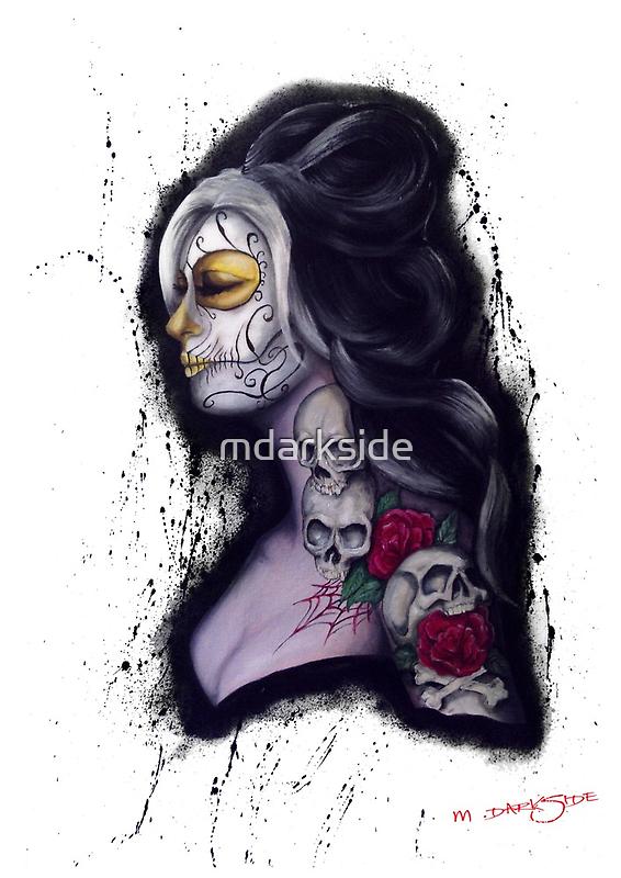 Dia de los Muertos girl  by mdarkside