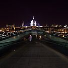 Millenium Bridge to St Pauls Cathedral by James Grant