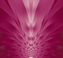 Pink Pineapple Fractal by Sharon Woerner