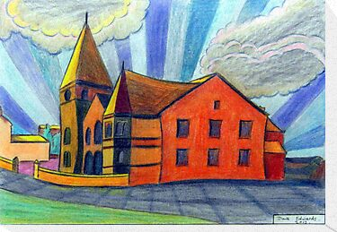 375 - BETHLEHEM CHAPEL, RHOSLLANERCHRUGOG - DAVE EDWARDS - COLOURED PENCILS - 2013 by BLYTHART