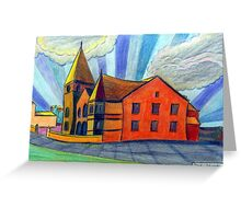 375 - BETHLEHEM CHAPEL, RHOSLLANERCHRUGOG - DAVE EDWARDS - COLOURED PENCILS - 2013 Greeting Card