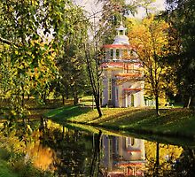 Chinese Pavilion, Catherine Park in Pushkin, Saint Petersburg by TStewey