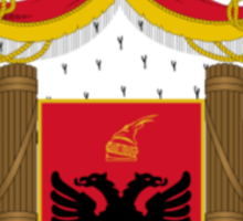 Royal Coat of arms of Albania Sticker