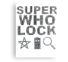 SUPERWHOLOCK [BLACK] Metal Print
