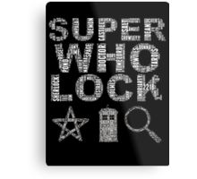 SUPERWHOLOCK [WHITE] Metal Print