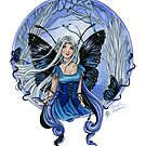 Blue Diadem Gothic Fairy by meredithdillman