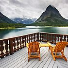 Priceless Glacier View - Many Glacier Hotel by Mark Kiver