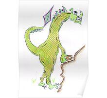 Dragon climbing Poster