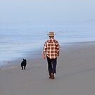 Faithful Walk - Birubi Beach NSW Australia by Bev Woodman