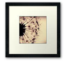 droplets of mocha Framed Print