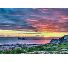 Sunset in France Photographic Print