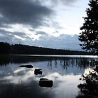 The lake at dusk by Fairoak