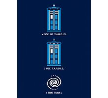 8-Bit Adventure - Doctor Who Shirt Photographic Print