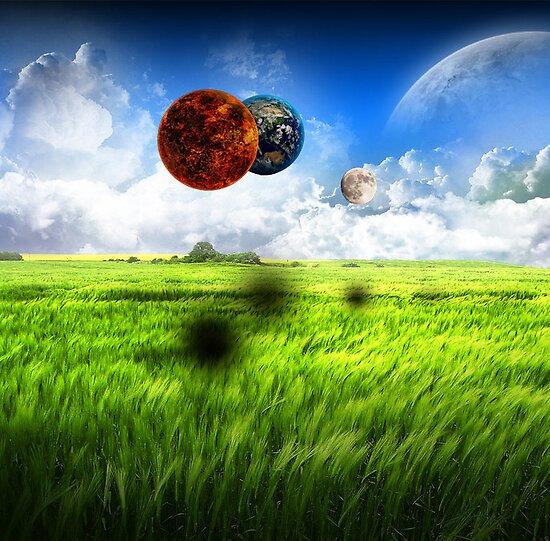 Strange Planets in a Field by caffreyf