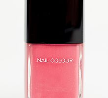 Pink Nail Polish Bottle by Heidi Hermes