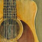 12 String Acoustic Fender Guitar by Dorrie  Rifkin