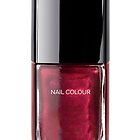 Deep Red Nail Polish Bottle by Heidi Hermes