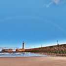 Rainbow over Whitby by Lilian Marshall