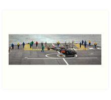 Safety Walkdown - Helicopter Flight Deck Art Print