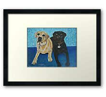 Daisy and Cocoa Framed Print