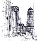 London Canary wharf 3 by artist-SG