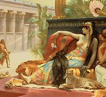 Cleopatra Testing Poisons on Those Condemned to Death  by Bridgeman Art Library