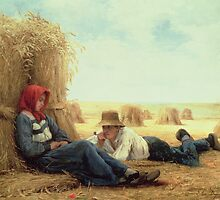 Harvest Time, 1878 by Bridgeman Art Library