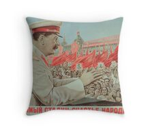 To Our Dear Stalin, the Nation, 1949 Throw Pillow