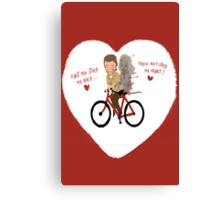 the walking dead heart/bike Canvas Print