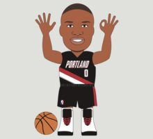 NBAToon of Damian Lillard, player of Portland Trail Blazers by D4RK0