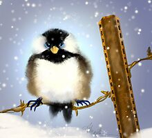 Chickadee: Puffy Buttons by Alma Lee
