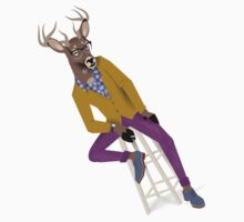 Preppy Deer by Dyna Moe